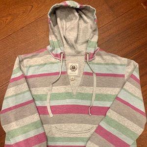 Merona Pink/Green/Gray Striped Sweatshirt 2x